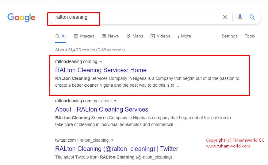 RALton Cleaning Services search - TuhamWorld CC